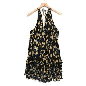Intimately Free People Black Floral Dress - Size M